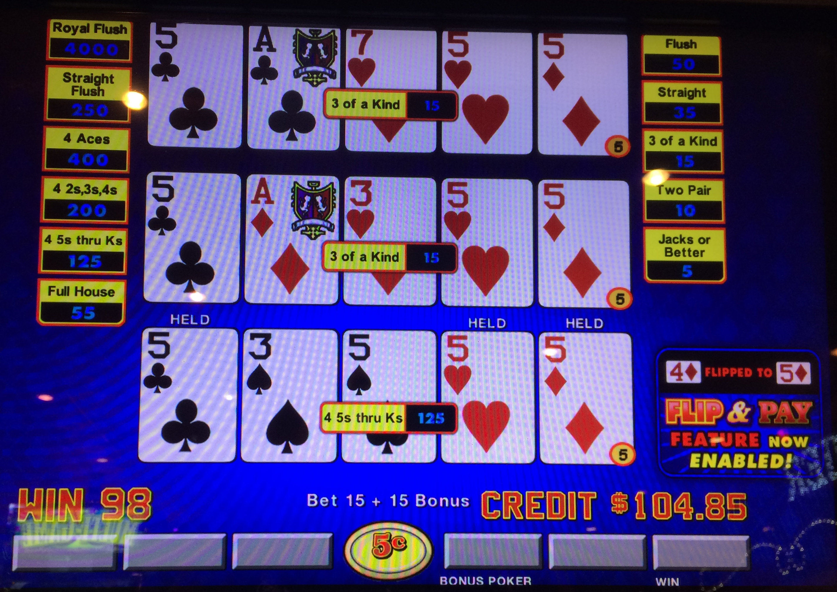 Video Poker Pay 34003
