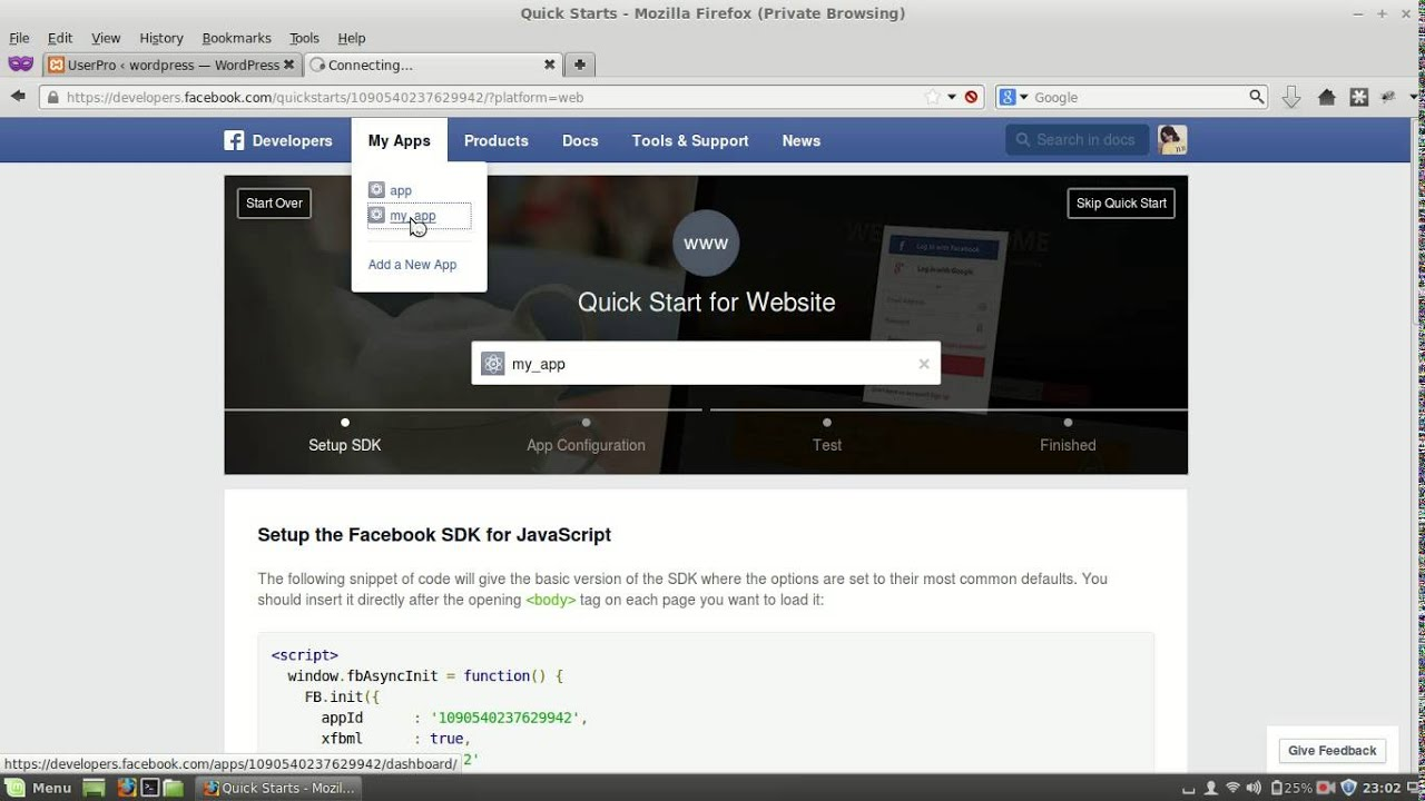 Facebook Integration TED 47843