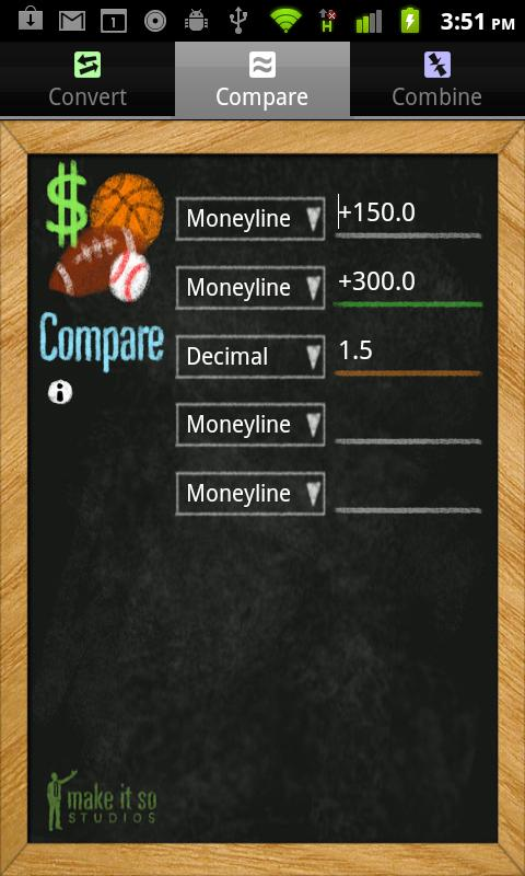 Moneyline Bet Calculator 13164